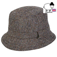 Quality 100% Harris Tweed Hunter/Grouse Hat Made in UK. All sizes. FOLDABLE