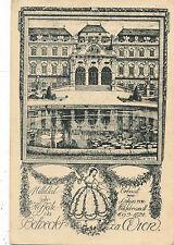 Ulf-Seidl Kunstkarte aus Wien, Mittelteil der Hofseite des Belveders  (A12)