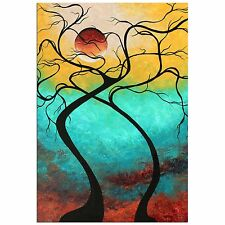 Colorful Abstract Landscape 'Twisting Love III' Contemporary Tree Wall Decor