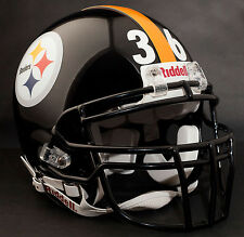 JEROME BETTIS PITTSBURGH STEELERS Schutt ROPO-DW Football Helmet FACEMASK- BLACK