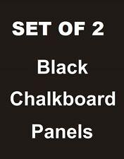 """2ea. 24"""" x 36"""" Black Chalkboard Replacement Panels Sandwich Board Sidewalk Sign"""