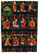2013 Select Champions Gold Coast Suns Silver Parallel set 12 cards