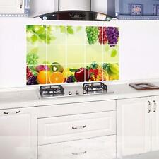 Removable Kitchen Oilproof Heat-resistant Wall Stickers Art Decal Home Decor New