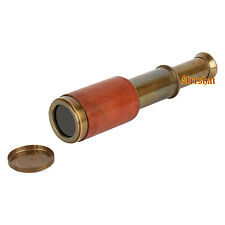 Artshai Antique style marine Telescope, Genuine leather bounded