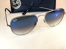 Ray Ban Aviator Silver Frame Light Blue Gradient Lens 58mm-RB 3025 003/3F