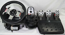 Logitech G27 Gaming Racing Steering Wheel Pedals 6 Speed Shifter PS3 PS4 PC