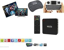 MX9 4k ANDROID INTERNET TV SMART BOX 2GB / 8GB DECODER IPTV new + tastiera wifi