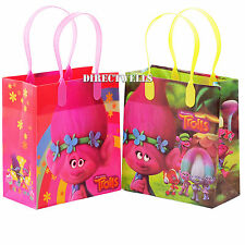 6 Pcs Trolls Authentic Licensed Small Party Favor Goodie Gift Bags