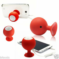 New Mini Silicone Waterproof Speaker Stereo Suction Cup Audio Stand Holder Red