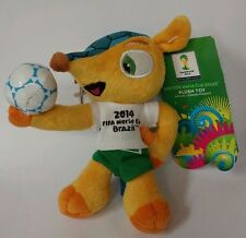 "2014 FIFA World Cup Brazil Mascot 5 1/2 "" Plush Toy w/ Trigger Snap"