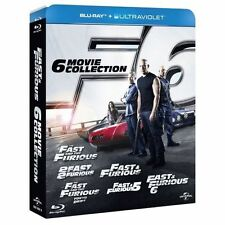 Fast and Furious Complete Collection All 6 Movie Film Boxset 1 2 3 4 5 6 Blu Ray