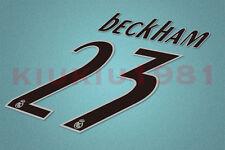 Real Madrid Beckham #23 2005-2006 Homekit Nameset Printing
