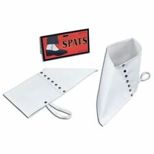 Mens Gangster Spats Shoes White 1920s Fancy Dress Costume Accessory BA181