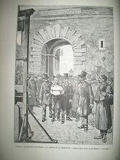 EXPO UNIVERSELLE TRAVAUX TOUR EIFFEL LA ROQUETTE EXECUTION PRADO GUILLOTINE 1889