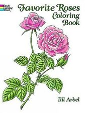 Adult Kids Coloring Books Favorite Roses Art Design Painting Relief Stress Relax