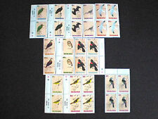 BAHAMAS-BRITISH POSTAGE STAMPS-1991 BIRDS 11 DIFFERENT - BLKS 0F 4 - NH
