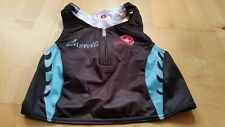 CASTELLI Donna Black-Blue Body Paint W Tri Top, Size S , J304(U)