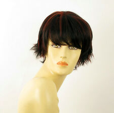 wig for women 100% natural hair black and red wick ref  CYNTHIA 1b410 PERUK