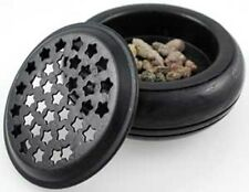 Starry Screen Black Charcoal Burner Holder Wicca Altar Witch Spell Resin Incense