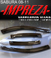 Smoke 08-11 Impreza Window Deflectors Visor Vent Shade Rain/Sun/Wind Guard