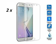 2 x Samsung Galaxy S7 EDGE CURVED Tempered Real Glass Screen Protector. Bundle