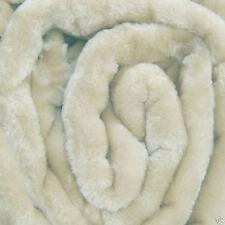 Grande CREMA pelliccia di visone Divano Buttare 150 X 200