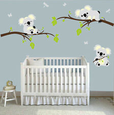 Personalized Koalas Trees Home Wall Decal Sticker Nursery Baby Kid's Room Decor