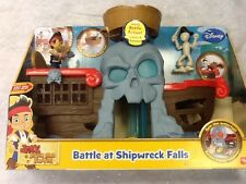 NUOVO Fisher Price Disney Jake E Il Neverland Pirati battaglia a naufragio cade