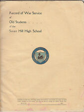 WW2 Australia Swan Hill High School Victoria record of service book, scarce