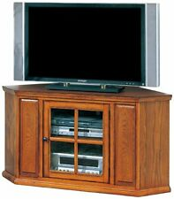 Leick Furniture 88285 Riley Holliday Corner TV Stand-46-Inch-Burnished Oak