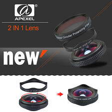 Professional Wide Angle/CPL Camera Lens Kit Protable W/Carry Box fr Mobile Phone