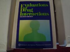 Evaluation Drug Interaction Second Edition Soft Cover Book from 1976 519 Pages