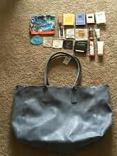 New make up tote bag scarf sample Dior Clinique fragrance Bvlgari Lancer etc