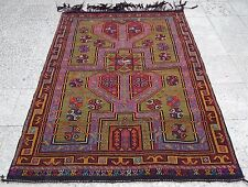 Eclectic Decor Family Home Kilim Rug, Vintage Handmade Wall Hanging 3.9x5.5 ft.