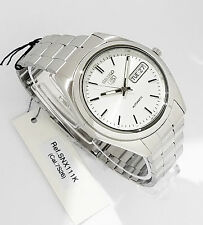 SEIKO Men Silver tone Automatic Watch Seiko 5 Silver dial SNX111K New w Box