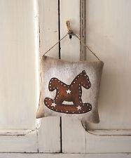 Coussin de porte motif pain d'épice cheval étoile décoration de Noël