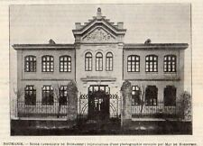 BUCAREST BUCURESTI ECOLE CATHOLIQUE SCHOOL ROUMANIE ROMANIA IMAGE 1902 OLD PRINT