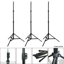 3 x 7ft Light Stand Photo Video Studio Lighting Photography Stands Linco