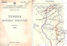 TUNISIA NOTIZIE MILITARI MINISTERO GUERRA MAPPA MILITARE COMUNICAZIONE 1939