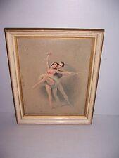 VINTAGE BALLET DANCERS FRAMED ART PRINT