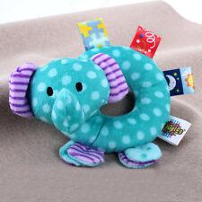 Peluche Doudou Éléphant Animal Hochet à Grelot Jouet pour Bébé Enfant 0-3 Ans