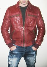 McQ by Alexander McQueen Burgundy Leather Jacket - Size 38US/48IT - $2,000+ MSRP