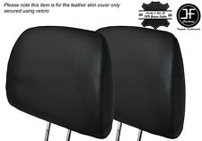 BLACK STITCH 2X FRONT HEADREST LEATHER SKIN COVER FITS HONDA CIVIC EK4 95-01