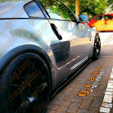 Nissan 350z Z33 Side Steps / Side Skirt Extensions Gloss Black v4