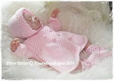 Honeydropdesigns Pitter Patter * papel Tejer patrón * reborn/baby Layette