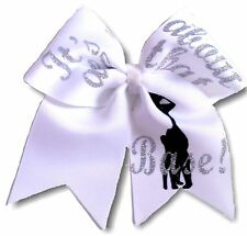 """""""It's all about that Base!"""" Large Cheer Hair Bow"""