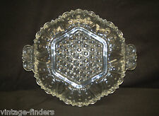 Old Vintage Clear Relish Serving Candy / Nut Dish w Scalloped Edges Mid-Century