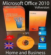 Microsoft Office Home and Business 2010 VERSIONE COMPLETA INGLESE BOX, DVD + sp1 NUOVO
