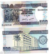 BURUNDI AFRIQUE Billet 500 Francs 2009 P45 NEUF UNC