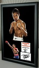 """Manny Pacquiao Boxing World Champion Framed Canvas Print Signed """"Great Gift"""""""